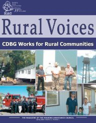 CDBG Works for Rural Communities - Housing Assistance Council