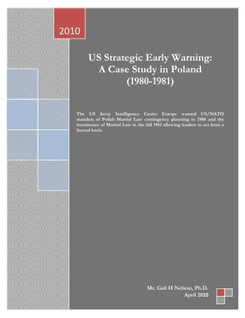 US Strategic Early Warning: A Case Study in Poland - Association of ...