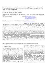 Sintering mechanisms of nascent semi-crystalline polymer powders ...