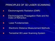 Principles of 3D Laser Scanning