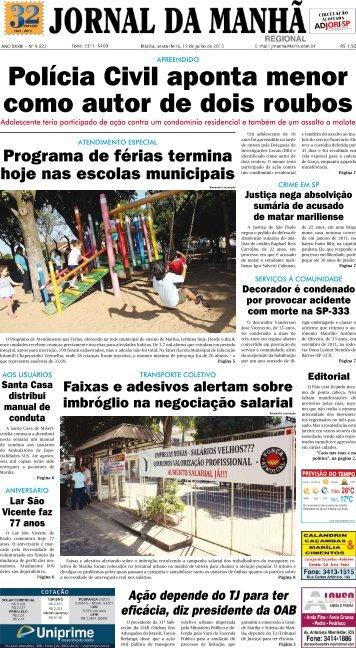 Polícia Civil aponta menor como autor de dois ... - Jornal da Manhã