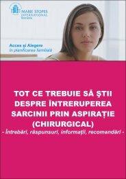 Brosura Intrerupere sarcina prin aspiratie - Marie Stopes ...