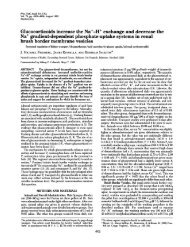 Glucocorticoids increase the Na'-H' exchange and decrease the ...