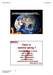 Leverandøraudits - uddrag - Lasse Ahm Consult