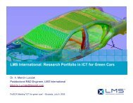 LMS International: Research Portfolio in ICT for Green Cars - PolSCA