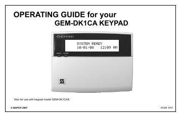 Dsc pc1575 Installation manual