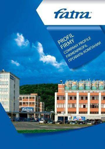 PROFIL FIRMY - Fatra