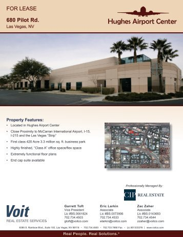 FOR LEASE 680 Pilot Rd. - Voit Real Estate Services