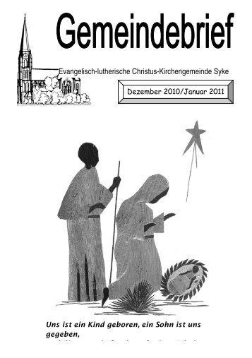 Evangelisch-lutherische Christus-Kirchengemeinde ... - Kirche in Syke