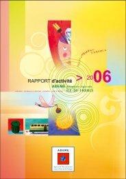 Rapport d'activité 2006 - Ademe Ile de France