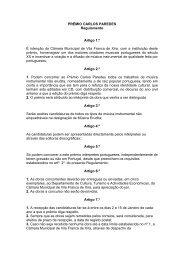 Regulamento do Prémio Carlos Paredes - Câmara Municipal de ...