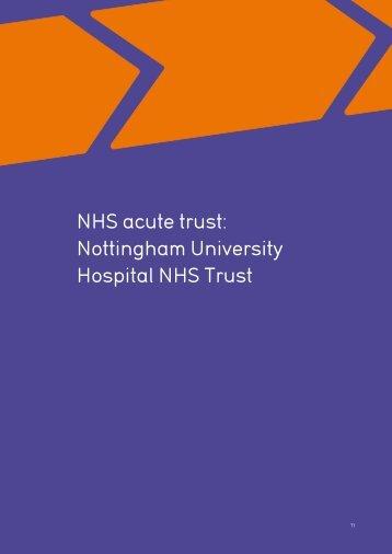 NHS acute trust: Nottingham University Hospital NHS Trust