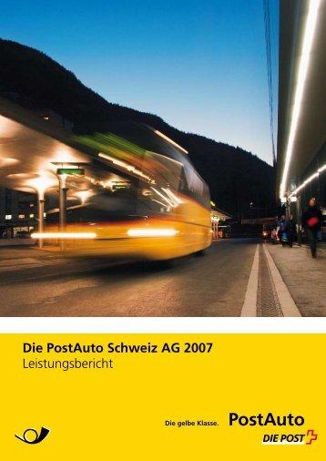 Leistungsbericht 2007 - PostBus