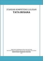 Standar Kompetensi Lulusan Tata Busana