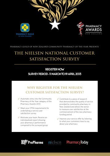 Pharmacy Guild of NZ Customer Satisfaction Survey Pharmacy