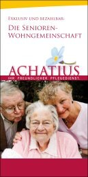 Senioren Wohngemeinschaft - ACHATIUS