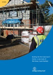Building the first Code level 5 homes - Energy Saving Trust