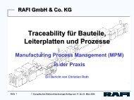 Traceability für Bauteile, Leiterplatten und Prozesse