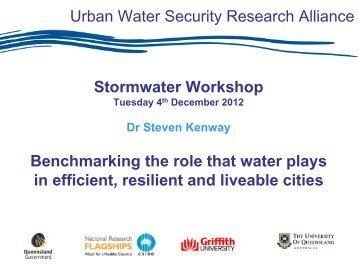 Benchmarking the Role that Water Plays in Efficient, Resilient and ...