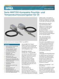 Serie MMT310 Kompakte Feuchte- und ... - Vaisala