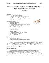 SHORELAND MANAGEMENT GIS TRAINING EXERCISE Blue Lake ...