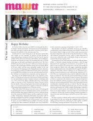 MAWA Newsletter, Fall 2013 - Mentoring Artists for Women's Art