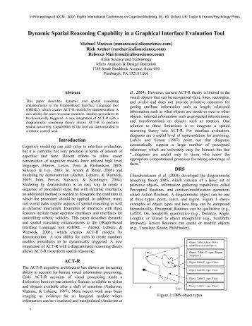 Dynamic Spatial Reasoning Capability in a Graphical Interface ...
