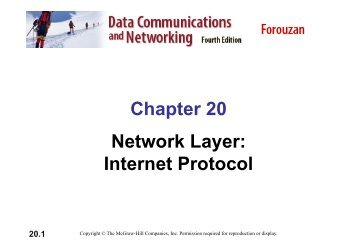 Chapter 20 Network Layer: Internet Protocol 20.1