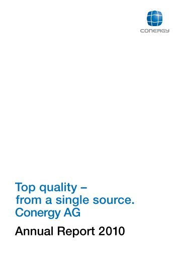 from a single source. Conergy AG Annual ... - Alle jaarverslagen
