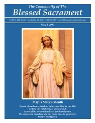 Blessed Sacrament - The Catholic Community of the Blessed ...