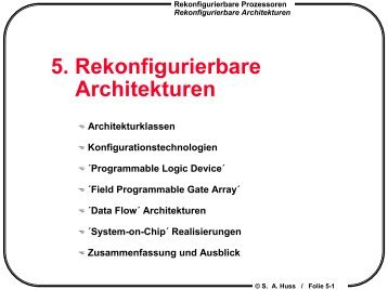 Architektur - Integrated Circuits and Systems Lab