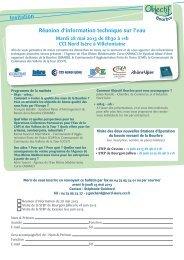 Invitation Réunion d'information technique sur l'eau - Chambre des ...
