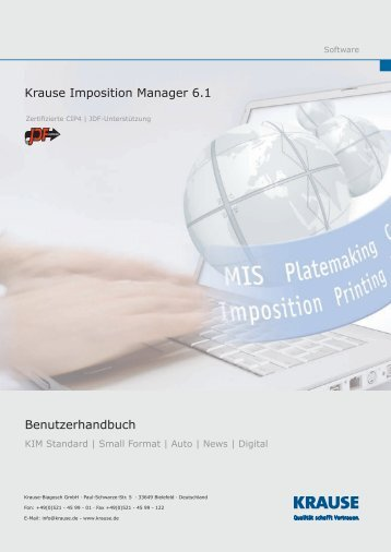 KIM 6.1 - Krause Imposition Manager