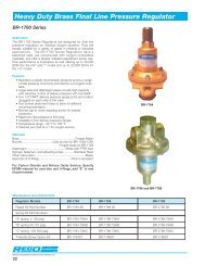 Heavy Duty Brass Final Line Pressure Regulator - Gas Equipment ...