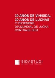 30 AÑOS DE VIH/SIDA, 30 AÑOS DE LUCHAS - Sida Studi