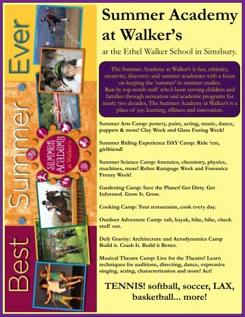 Summer Academy at Walker's - Granby Public Schools