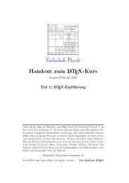Das Handout (Teil 1-2: Latex-Grundlagen) - Fachschaft Physik ...