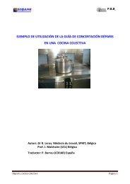 Ejemplo 3: propuestas de mejoras en una cocina colectiva