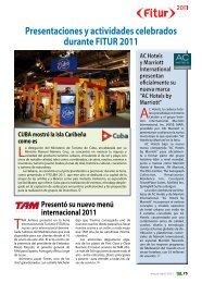 Presentaciones y actividades celebrados durante ... - TAT Revista