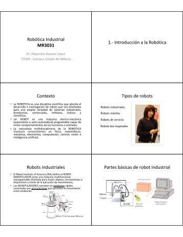 Introducción Robots industriales Cuando usar un robot industrial