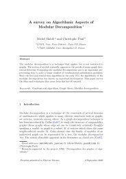 A survey on Algorithmic Aspects of Modular Decomposition 1