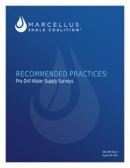 MSC Recommended Practices for Pre-Drilling Sampling