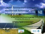 SEAP- Fenntartható Energetikai Akciótervek fontossága ... - enerea