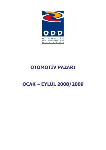 OTOMOTİV PAZARI OCAK – EYLÜL 2008/2009