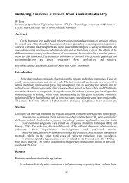 Reducing Ammonia Emission from Animal Husbandry - SVT