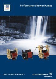 Performance Shower Pumps - Online Pump Supplies