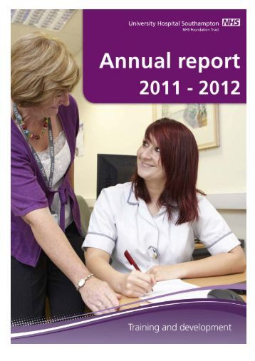 Training and development annual report 2011-2012 - University ...