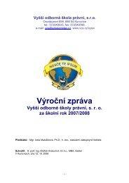 výroční zpráva za rok 2007/08 - Evropský polytechnický institut