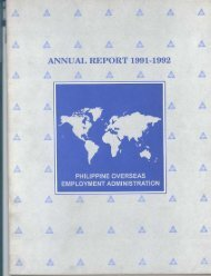 1991-92 - Philippine Overseas Employment Administration