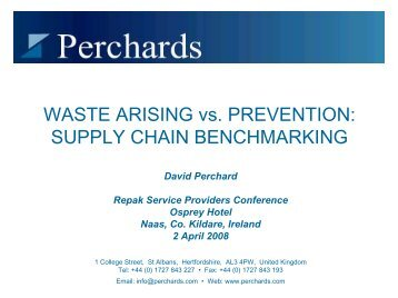 Waste Arising vs. Prevention - Repak